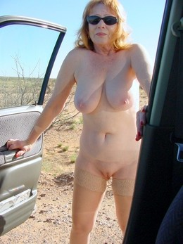 Smiley mature housewives posing naked..