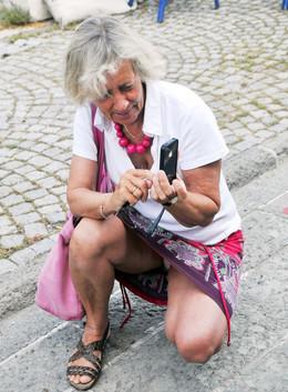 Depraved granny with huge asses