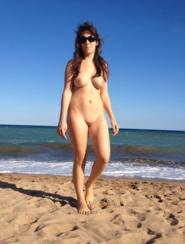 Hot mature nudist on the beach