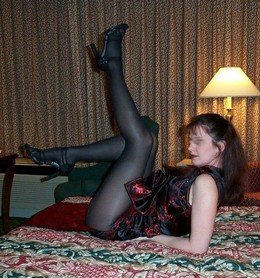 Leggy mature girlfriend in nylon,..